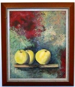 peinture à l'huile sur papier marouflée sur